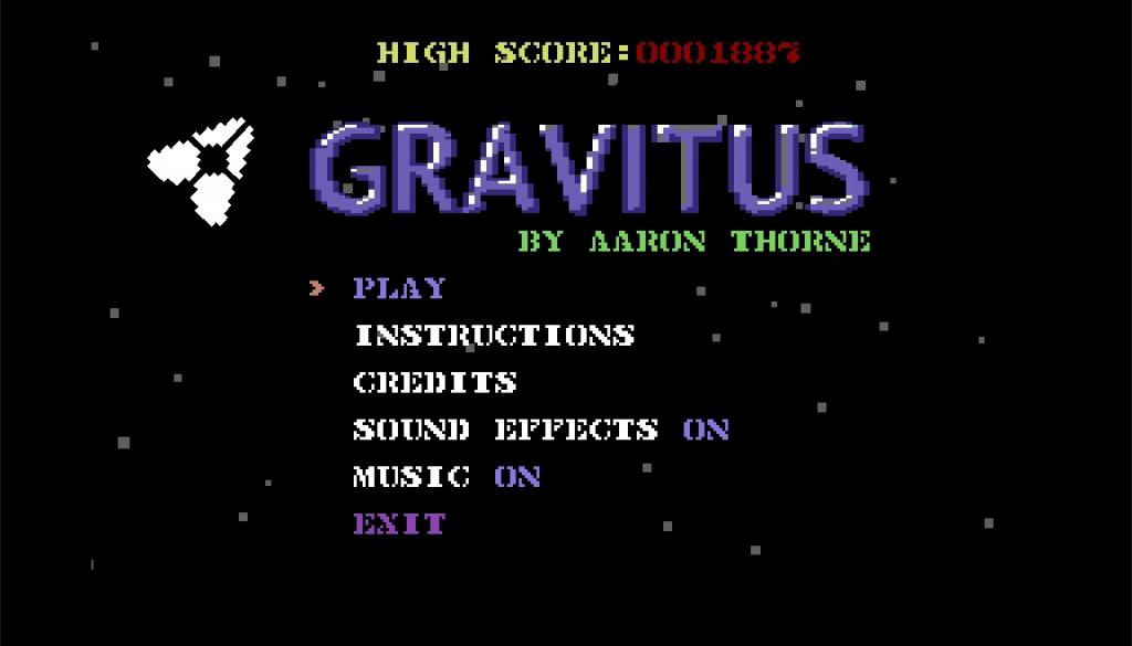 Gravitus - Title Screen